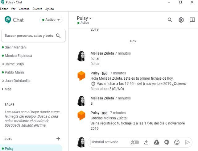 chatbot de recursos humanos